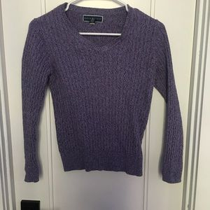 Purple Karen Scott sweater